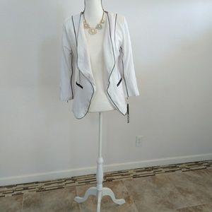 XOXO white cardigan blazer size large